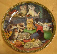 Collectible Bradford Exchange Porcelain Plate PURR-FECT COMPANIONS cats kittens