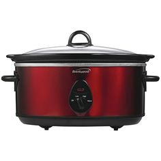 Brentwood 6.5 Quart Slow Cooker (red)