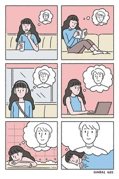 Love Cartoon Couple, Cute Couple Comics, Couples Comics, Cute Couple Art, Cute Comics, Cute Love Cartoons, Cute Cartoon, Cartoon Ships, Sundae Kids