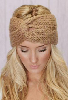 Knitted headbands are great fashion accessory and ear warmer in one!!!!!!!