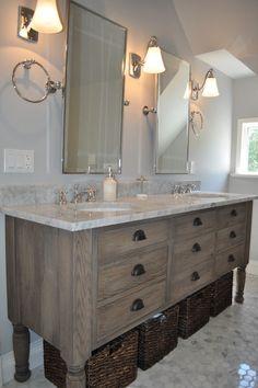 Distressed Bathroom Vanity Transitional Blank And Baker