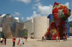 """""""The Puppy"""" en fleurs, Jef Koons, Musée Guggenheim Bilbao - Espagne"""