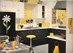 Kitchen ideas on pinterest yellow kitchens command - Black and yellow kitchen ideas ...