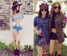 Short shorts & wellies, perfect festival combo x