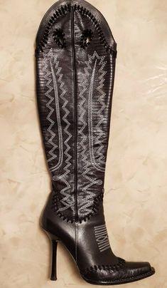 Stivali stampa cocco cuoio con tacco largo overknee vera pelle made in italy