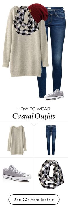 """Casual Winter. -Grace"" by isongirls on Polyvore featuring Uniqlo and Converse"
