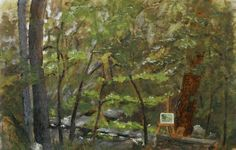 Botanical Garden, UNC Asheville, 2007—  8x12 oil on panel, $75-unframed