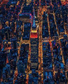 New York Coty lights