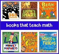 We loove teaching with these great books on math for kids. It's a lot of fun –and-- a great too for aiding comprehension with visual and verbal learners. This page lists the best math books for kids.
