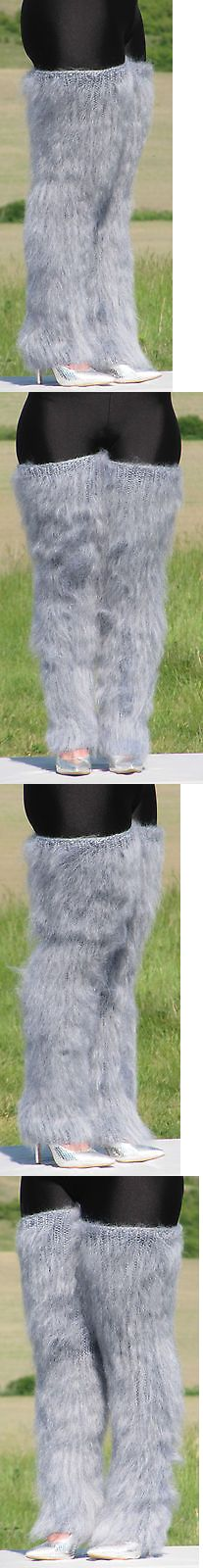 Leg Warmers 163587: Mohair Hand Knitted Grey Melange Gaiters Legwarmers Legging Spats Unisex Fluffy -> BUY IT NOW ONLY: $59.99 on eBay!