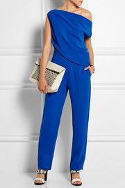 Draped crepe jumpsuit