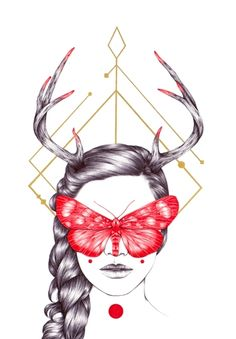 Artist: Peony Yip; Medium: Gold Ink and Ballpoint Pen on Paper; Size: 59 x 42cm, 67 x 50cm(framed); Year: 2015
