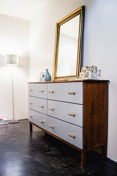 Tarva is one of the most popular dressers by Ikea, and I'm sure that most of you have one or more at home. But Ikea is known for making plain . Retro Furniture, Refurbished Furniture, Ikea Furniture, Repurposed Furniture, Furniture Makeover, Painted Furniture, Furniture Plans, Kitchen Furniture, Bedroom Furniture