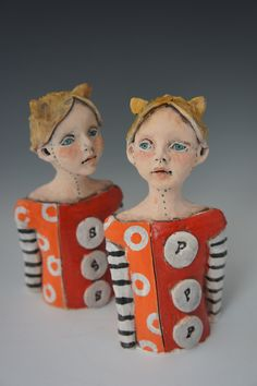 Dots sculptural salt and pepper shaker by artist Victoria Rose Martin. $80.00, via Etsy.
