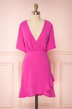 Helah Berry - Make every day an occasion to celebrate with this fabulous dress! Magenta, Fabulous Dresses, Boutique Dresses, New Dress, Wrap Dress, Cold Shoulder Dress, Clothes For Women, Stylish, Modeling