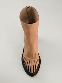 ANN DEMEULEMEESTER - Cut-Out Heeled Boot - 141-2804-299-027 - H. Lorenzo