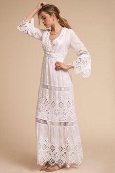 111 Wonderful Bohemian Wedding Dress Ideas - Beauty of Wedding Bohemian Wedding Dresses, Boho Dress, Dress Skirt, Lace Dress, Dress Up, Wedding Gowns, Bohemian Bridesmaid, Boho Fashion, Fashion Dresses