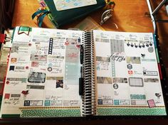I used a little bit from here and there but the main theme is from @addieandallie  #stickers #instagram #erincondren #filofax #ceninplannergroup #naptownplannergirls #naptownplannersgroup #hobonichitecho #hobonichi by bamburglar