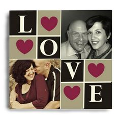 Love Photo Collage Canvas   Couple Photo Collage Wall Canvas