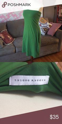 7d0ecd3a29e Susana Monaco olive green tube dress Size 5-6 Susana Monaco Dresses  Strapless Susana Monaco