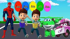 Colors for Children to Learn with Ryder Paw Patrol, Spiderman Colors , S...