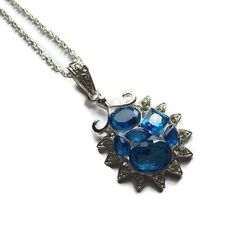 Beautiful blue gemstone pendant by TheWillowCrafts on Etsy