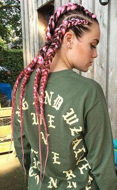 pink dutch braids