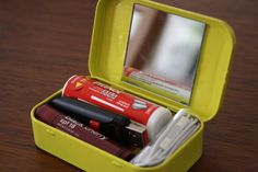 Use your mint tin for purse or traveling hard case