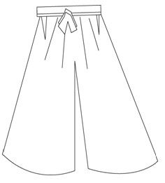 Free Download (On Broken Picture) How to make Hakama Pants. You Do Not Need To Sign Up To Website To Access Some Of The Free Patterns. From http://pattern-making.com/how-to-make-hakama/