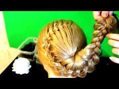 peinados sencillos faciles para cabello largo bonitos y rapidos con trenzas para niña mariposa#29 - YouTube