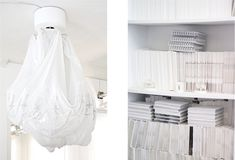 I N T E R I O R / Inside Maison Martin Margiela  (I'm not sure whats going on with the sheet)