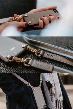 decided to go with MAJAVIA Crossbody iPhone Case in taupe ✨ Thank you for these pretty pictures. Pretty Pictures, Taupe, Iphone Cases, Wallet, Chain, Minimalist Design, Monogram, Leather, Beige
