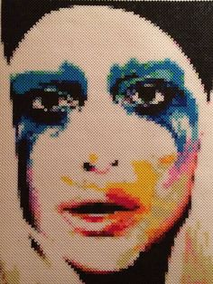 A personal favorite from my Etsy shop https://www.etsy.com/listing/522298177/lady-gaga-perler-bead-portrait