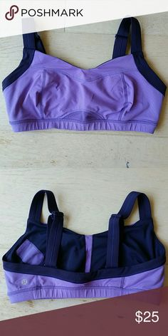 Lululemon TaTa Tamer Sports Bra Size 12 (fits cup size C-E), full support for running, worn twice, practically brand new. Key pocket. Versatile straps can switch to racer back. lululemon athletica Intimates & Sleepwear Bras