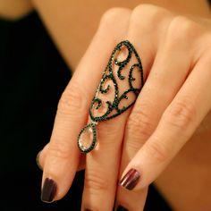 """Jaipur"" Morganite Shield Ring - Plukka - Shop Fine Jewelry Online"