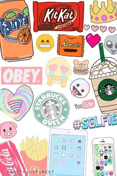 Find images and videos about wallpaper, starbucks and emoji on We Heart It - the app to get lost in what you love. Tumblr Wallpaper, Food Wallpaper, Cute Backgrounds, Cute Wallpapers, Wallpaper Backgrounds, Iphone Wallpapers, Emoji Wallpaper Iphone, Tumblr Stickers, Cute Stickers
