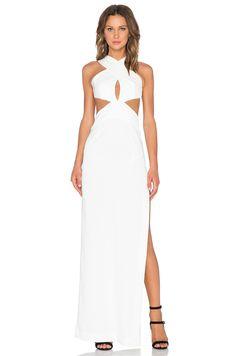 SOLACE London Mona Maxi Dress in White