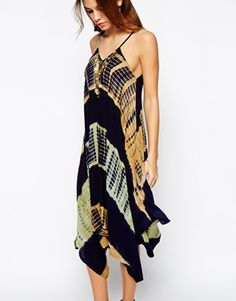 Enlarge Kiss The Sky Tie Dye Midi Dress With Coin Necklace