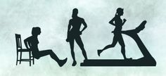 female fitness silhouettes set, free for download: