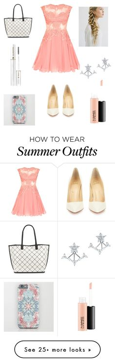 """""""Summer outfit!"""" by zoe24-12 on Polyvore featuring Christian Louboutin, Crislu, MAC Cosmetics, Lord & Taylor and Lancôme"""