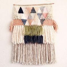 Weaving woven wall hanging by Maryanne Moodie