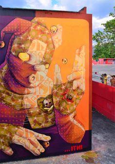 INTI New Street Art Mural By Chilean Artist INTI For Huellas Del Arte Festival In Maracay, Venezuela. 1