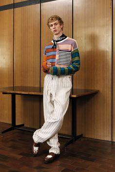 colourful stripe sweater - Andrea Pompilio Spring 2017 Menswear Fashion Show
