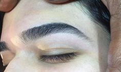 """Fresh and clean brows by Damone Roberts—expertly sculpted then finished using our """"Clear"""" Brow Gel and Pink-A-Boo Highlighter. #DamoneRoberts #brows #browsonfleek #bestbrows"""