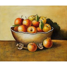 Apples in an Antique Bowl Oil Painting for sale on overArts.com