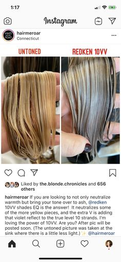Redken Hair Color, Aveda Color, Blonde Hair Inspiration, Balayage Hair Tutorial, Brassy Hair, Redken Hair Products, Hair Color Formulas, Hair Junkie, Hair Toner