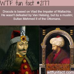 Dracula: Vlad the Impaler of Wallachia - WTF fun facts Wow Facts, Wtf Fun Facts, Funny Facts, Random Facts, Disney Princess Facts, Disney Fun Facts, Disney Princesses, Interesting Information, Interesting History