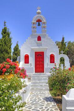 Knocking on heaven's door in Mykonos, Greece