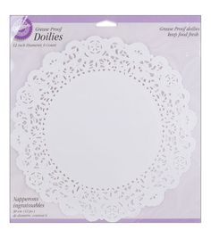 Wilton Doilies Grease Proof White 8