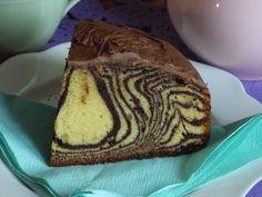 Zebra z ajerkoniakiem/ zebra with eggong Cooking Recipes, Bread, Sweet, Food, Yummy Cakes, Candy, Chef Recipes, Brot, Essen